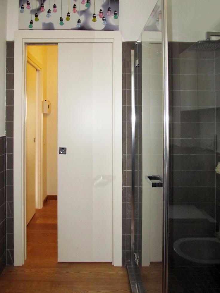 Eclisse Pocket door in the bathroom  Remodeling Project