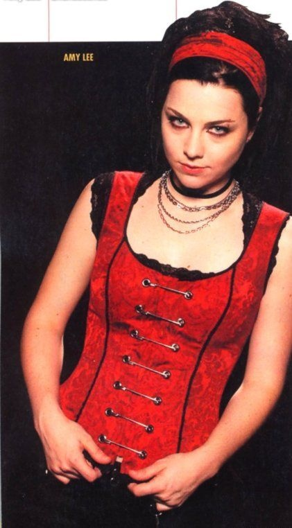 Amy Lee red corset dress  Musical Stuff  Pinterest  I love Corsets and Corset dresses