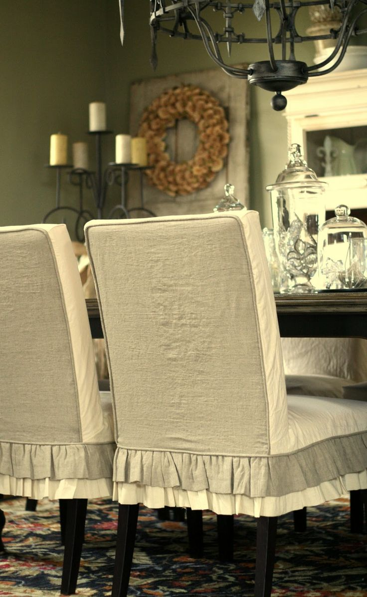 white slip covers for dining room chairs chair using pillow cases 15 best images about on pinterest | slipcovers, dollar tree and walmart