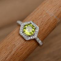 Natural peridot ring gemstone ring wedding ring promise ...