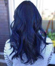 navy blue hair