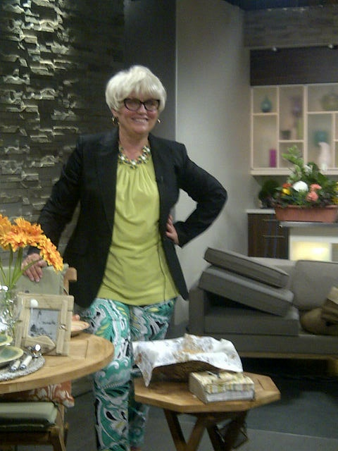 Lynn Spence On Daytime Peel Talking About Outdoor Decor