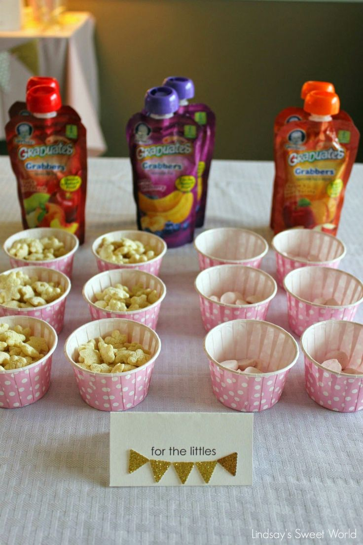 Lindsay's Sweet World: Pink and gold first birthday party – food table