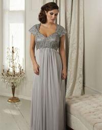 Silver plus size dresses, Plus size evening dresses and