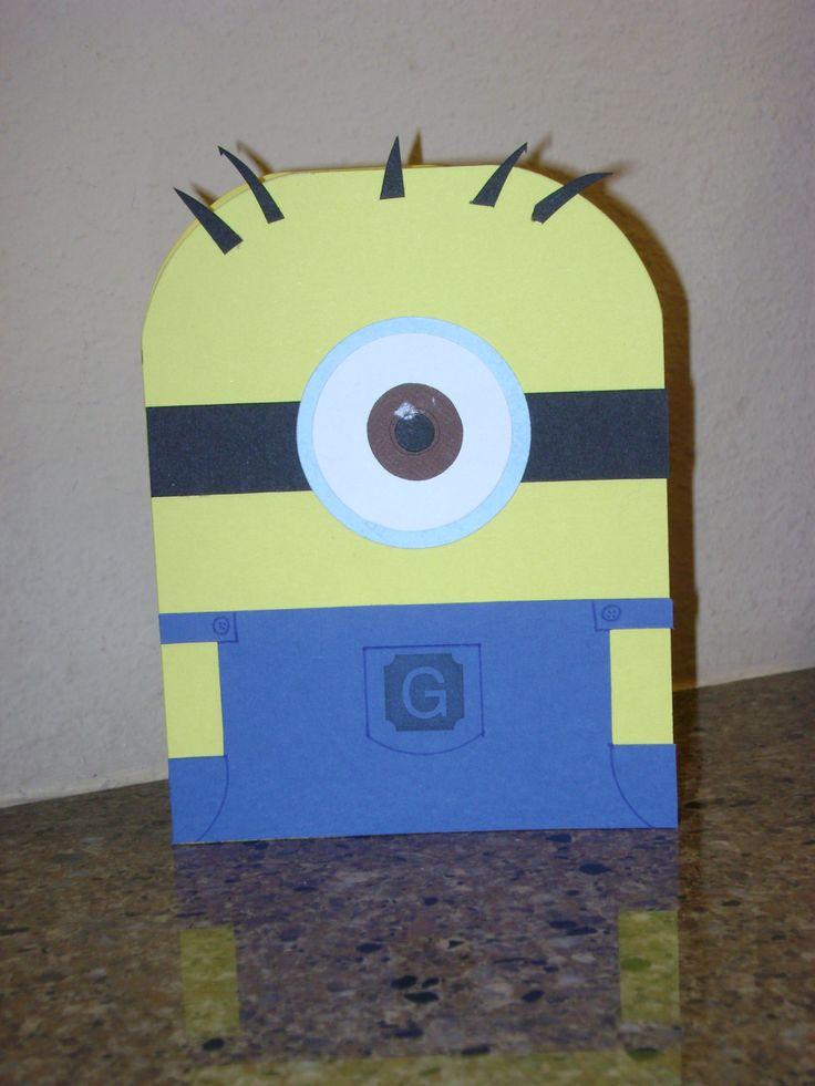 A Minion I Made For A Boys Birthday Card! Handmade Cards