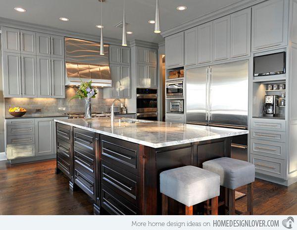 1000+ Ideas About Grey Kitchen Designs On Pinterest