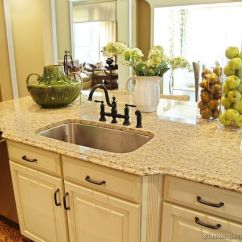 Different Kinds Of Kitchen Sinks Update Ideas Light Giallo Ornamental Granite White Cabinets - Large ...
