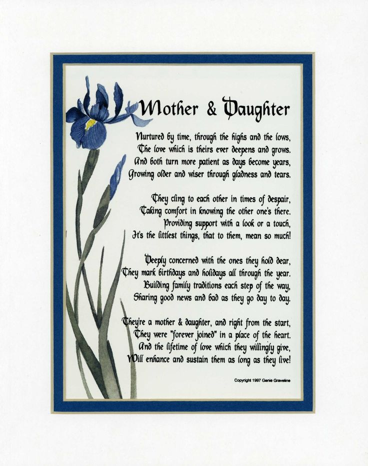 Mother  Daughter  FOR JODIE  Pinterest  Happy Birthday poems and Daughter quotes