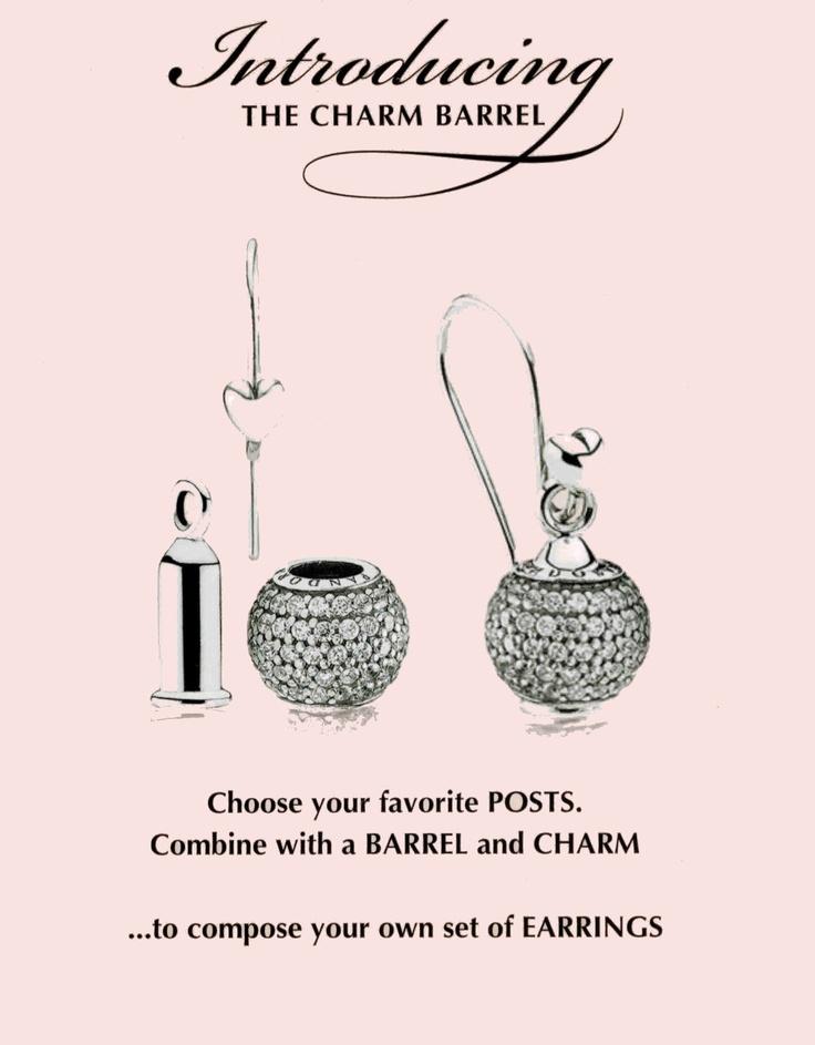 Pandora Charm Barrel, turn charms into earrings!