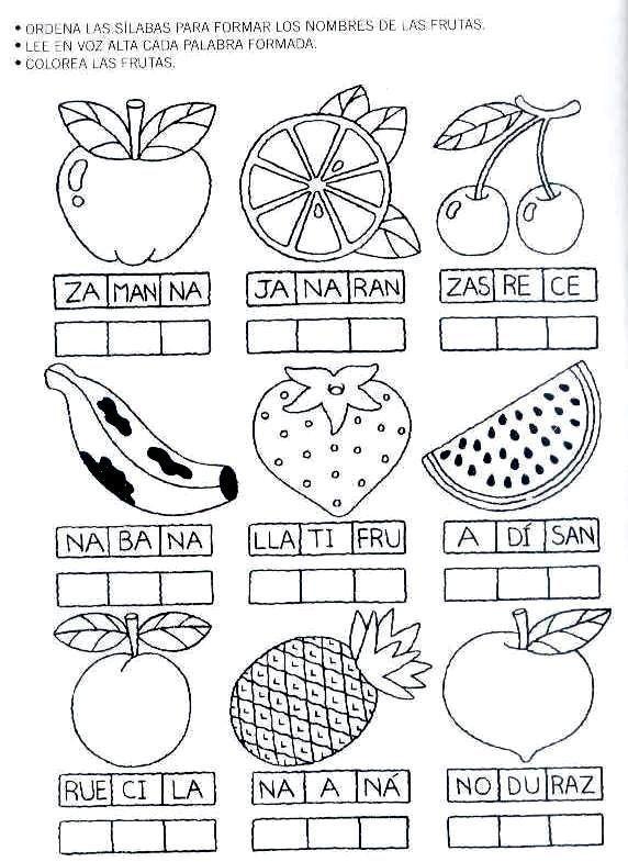 Ejercicios con sílabas, imprimir fichas educativas para