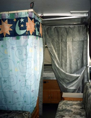 Indoor shower retrofit into a pop up camper Wow