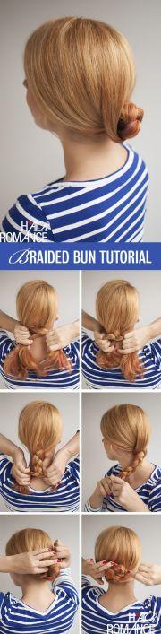 hair romance - easy braided bun