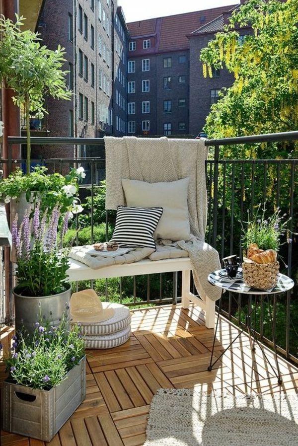 Balkon Ideen Blumenkasten Kleiner Balkon Deko Ideen Schone Sicht ... Balkon Ideen Blumenkasten Gelander