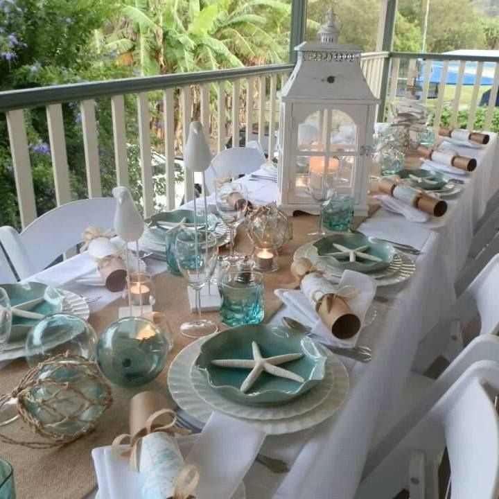 Coastal Table Dcor Photo From Fbook Page Coastal Vintage