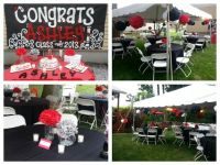 Red black theme pom pom. Outdoor party | backyard/cookout ...