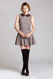 l'ecole des femmes brown wool sleeveless