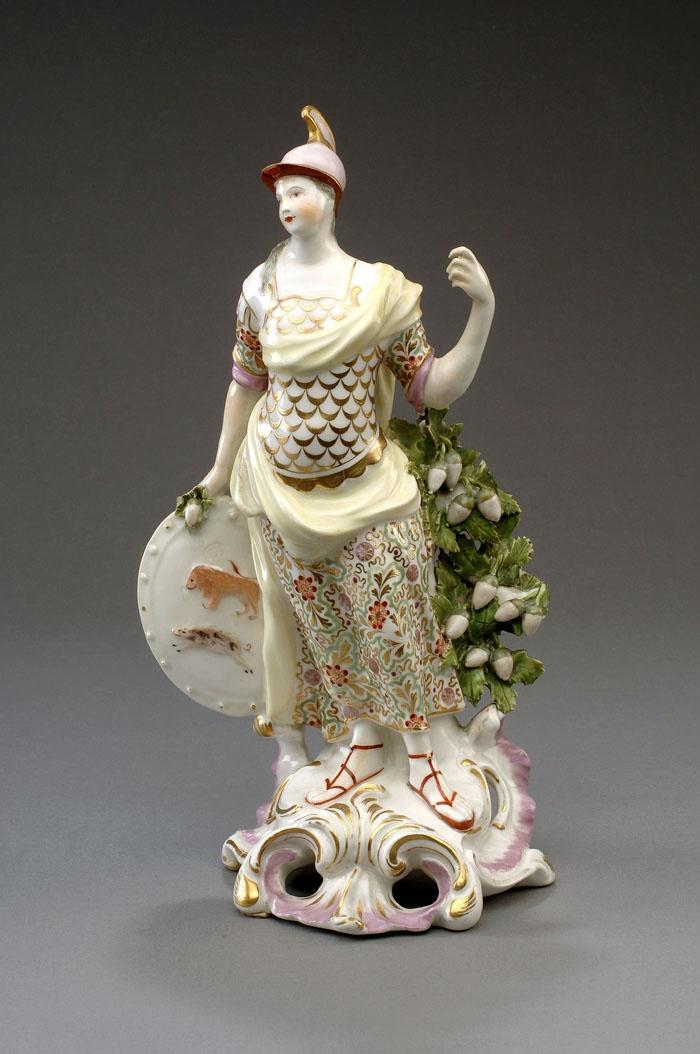 Derby Porcelain figure of Minerva  Antique Ceramics