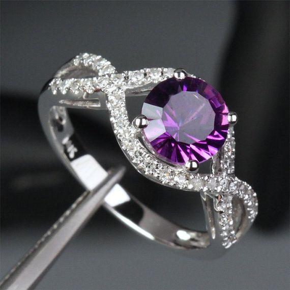 Best 20 Purple Wedding Rings ideas on Pinterest  Purple