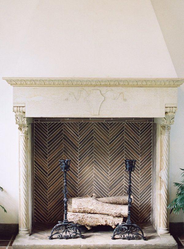 1000 ideas about Herringbone Fireplace on Pinterest
