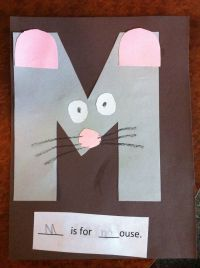 M is for mouse Pre-K letter M craft | Toddler, school ...