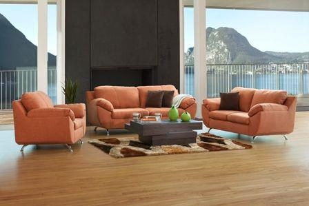 living room designs with grey walls interior wall colors for sala liz natura. sofa, love seat, sillon. color naranja ...