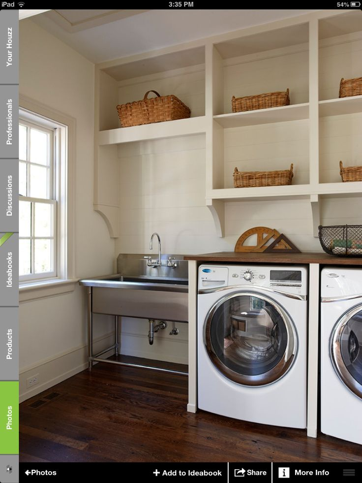 Laundry room love the utility sink  Projects to Try  Pinterest  Paint colors The floor and