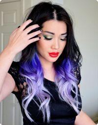 cool brown purple hair tumblr black hair color ideas for ...