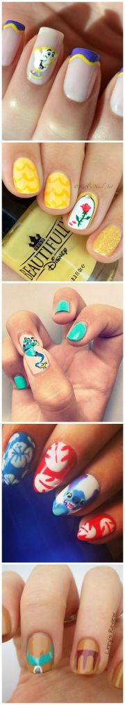 ideas disney nail