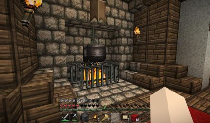 minecraft fireplace pot cooking medieval castle room imgur bedroom fireplaces furniture decorations aesthetic builds epic houses guide