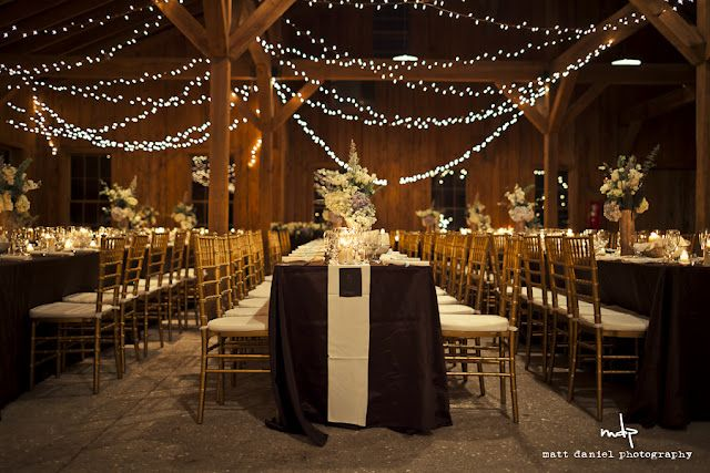love the Christmas lights  September Wedding Ideas