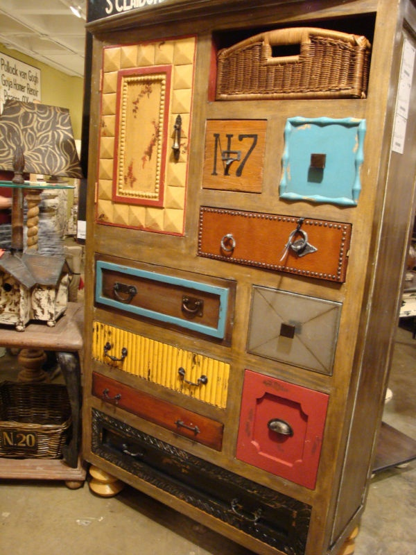 Painted and stenciled for a stylish eclectic look  Funky Furniture  Pinterest
