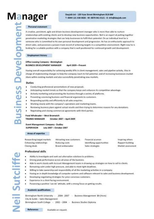 Cv Template Resume And Business Resume On Pinterest