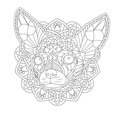 Ornate Chihuahua From My Decorative Dogs Adult Coloring