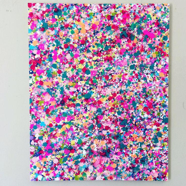 25+ best ideas about Splatter Paint Canvas on Pinterest