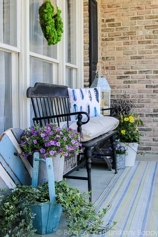25 best ideas about Front porch bench on Pinterest