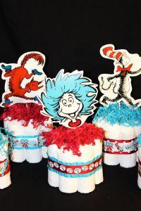 Dr Seuss Baby Shower Mini Diaper Cake Centerpieces by ...