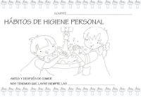Nico Dibujos Sobre Higiene Personal Para Colorear