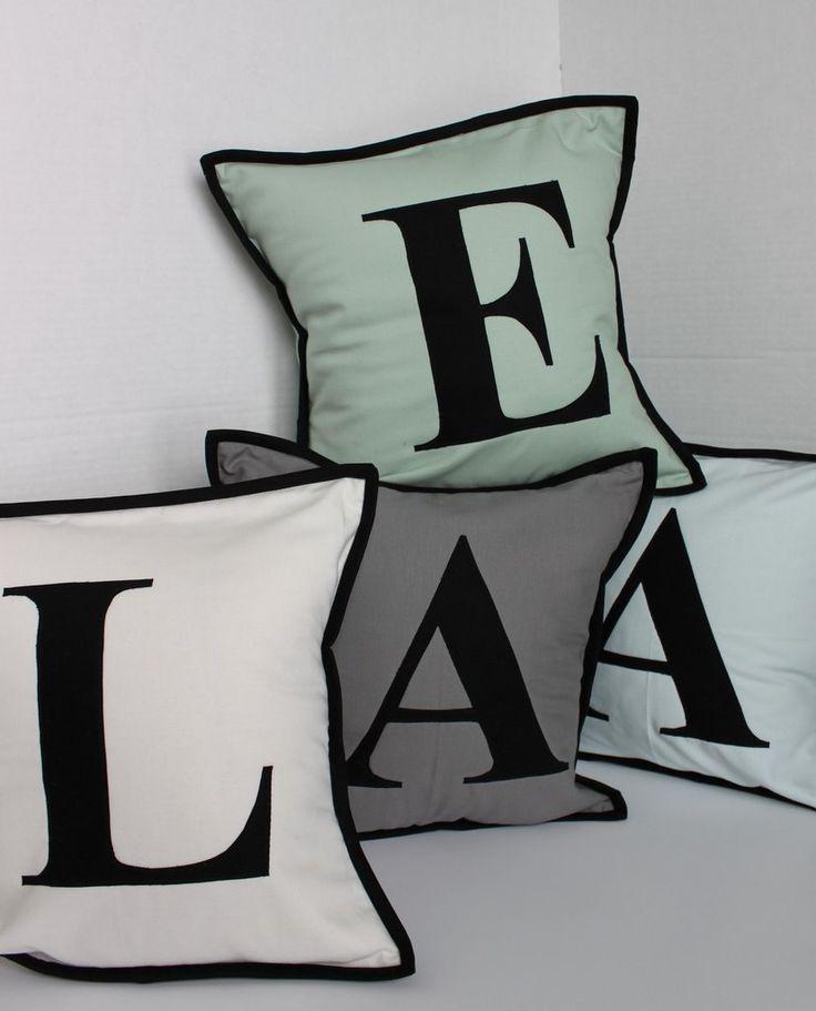 25+ best ideas about Initial pillow on Pinterest