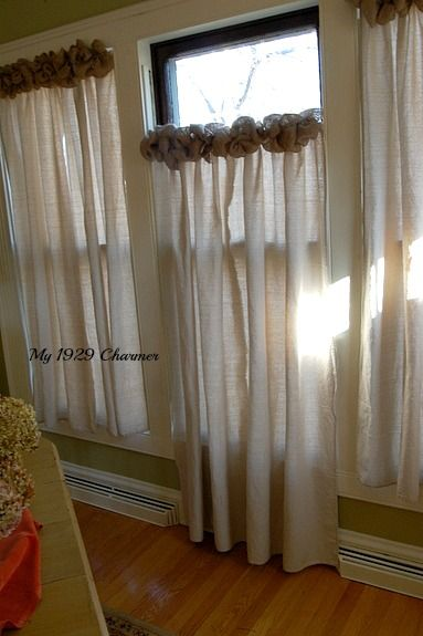 Drop Cloths Drop Cloth Curtains And Burlap Wreaths On Pinterest