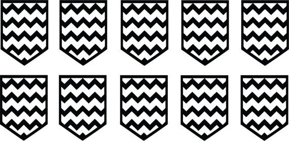 Small Chevron Nail Vinyl Decal Stencils *Sheet of 10* FREE