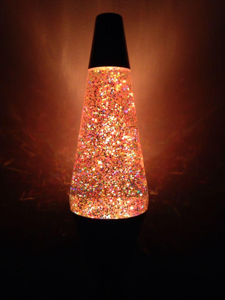 """14.5"""" 50th anniversary glitter lava lamp."""