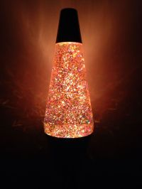 "14.5"" 50th anniversary glitter lava lamp."