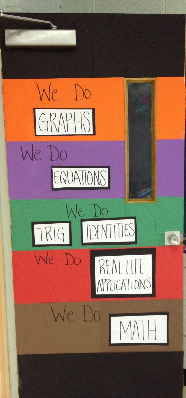 Math door decorations
