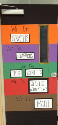 Math door decorations | Classroom | Pinterest | Math door ...