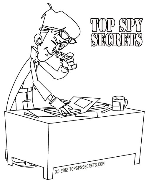 Mister E. making copies of secret papers... found at http