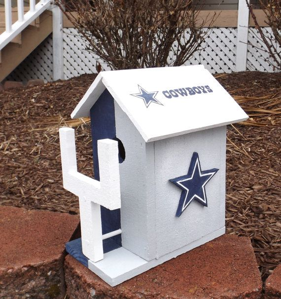dallas cowboys folding chairs rocking chair ottoman cushions nfl football rustic wooden by rockytoprustics | crafts birdhouses pinterest ...