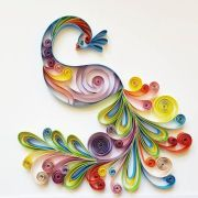 """quilled paper art """"colourful peacock"""""""