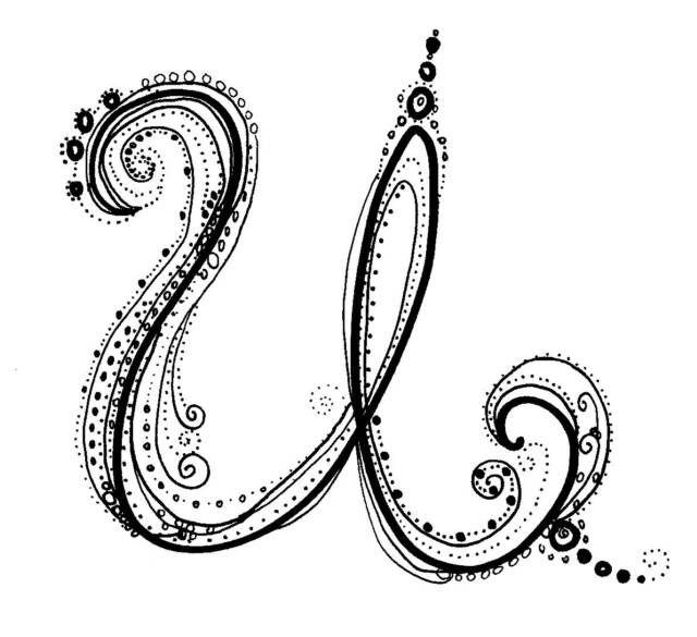 Cursive Fonts Alphabet