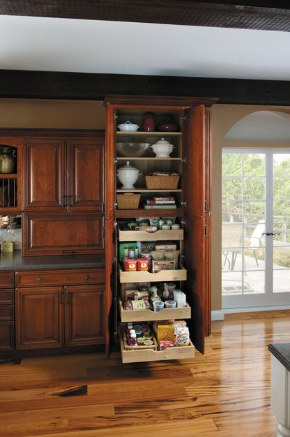 StarMark Cabinetry Utility with Roll Out Trays  Kitchen  Pinterest  Cabinet design Cabinets