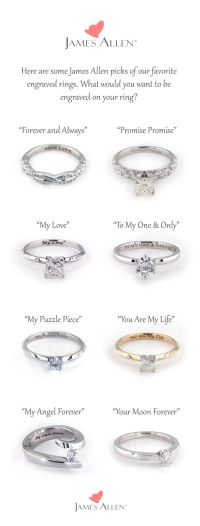 25+ best ideas about Engraved promise rings on Pinterest